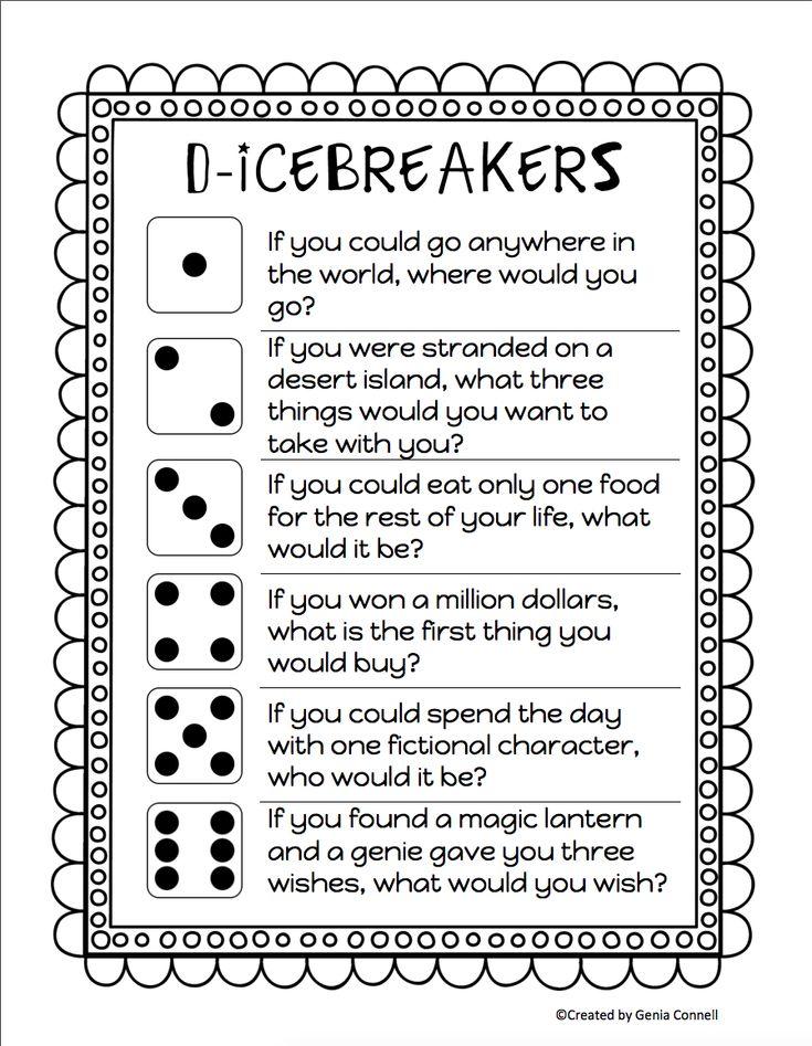 Try An Instagram Ice Breaker First Day Of School Ice