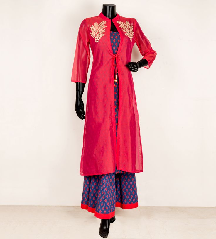 Chanderi Jacket Kurta by Missprint
