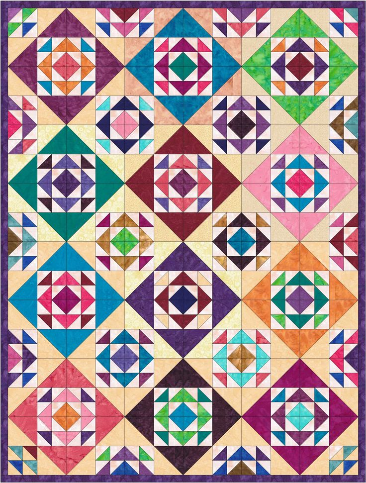 Sands of Time - great way to use up your Stash!!  From the book Rock that Quilt Block! - Hourglass