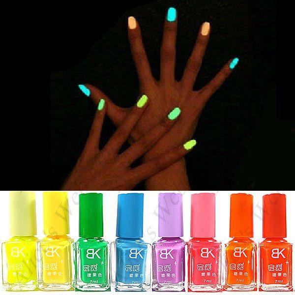 Neon Nail Polish Glows In The Dark Color Yellow
