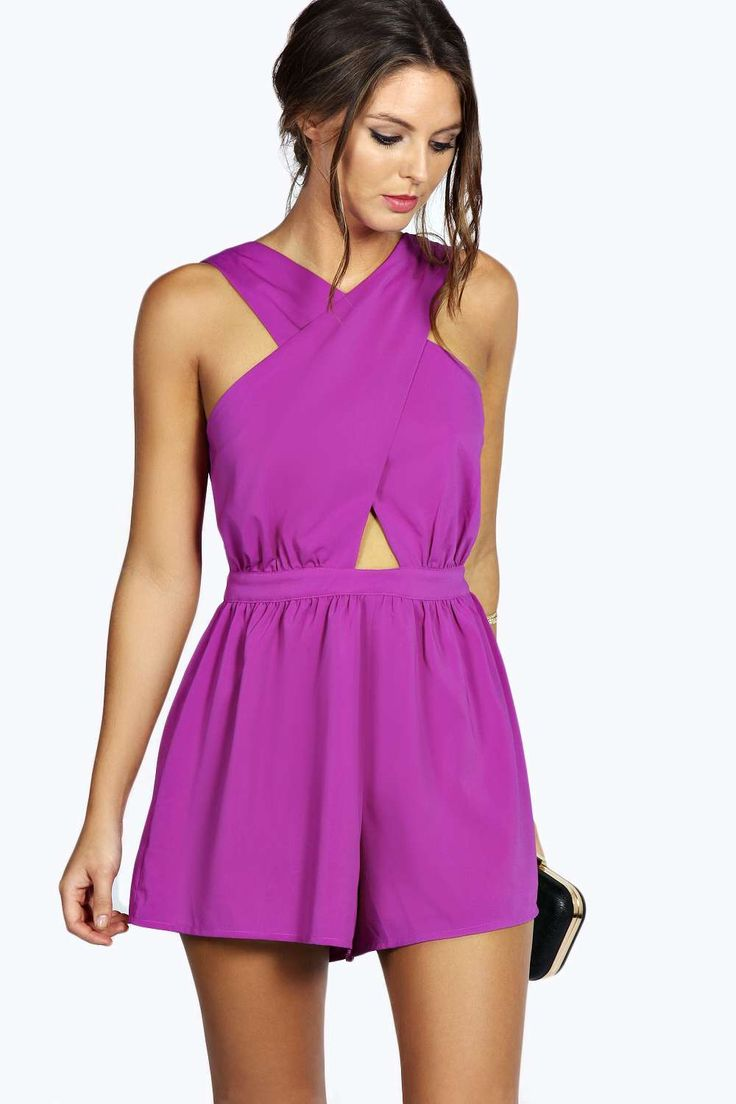 $35 Lola Crossover Chiffon Playsuit alternative image