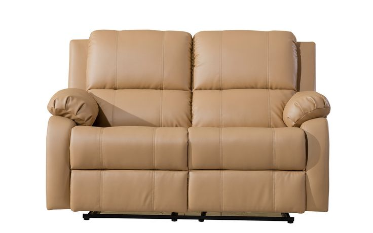 Choco Classic Bonded Leather Recliner Loveseat