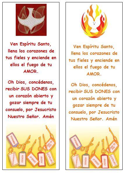 Señaladores para Pentecostés Saludos de buenos dias