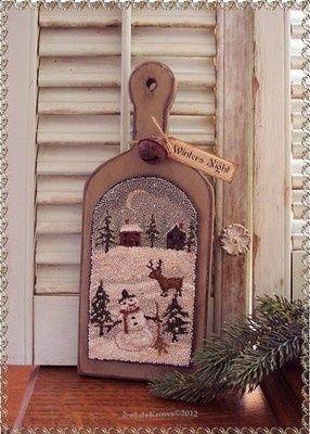 ... Christmas Deer Snowman Punch Needle Hornbook | eBay 2-oldekrows