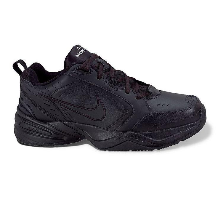Nike Air Monarch IV Men's Cross-Training Shoes, Size: 10.5 Xw, Black