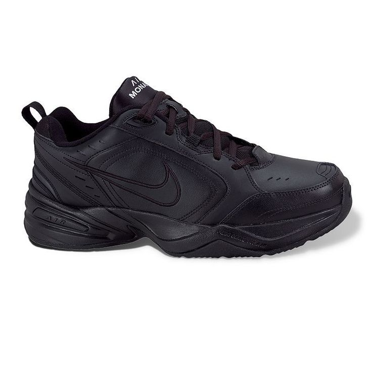 Nike Air Monarch IV Men's Cross-Training Shoes, Size: 10.5 Xw, Black