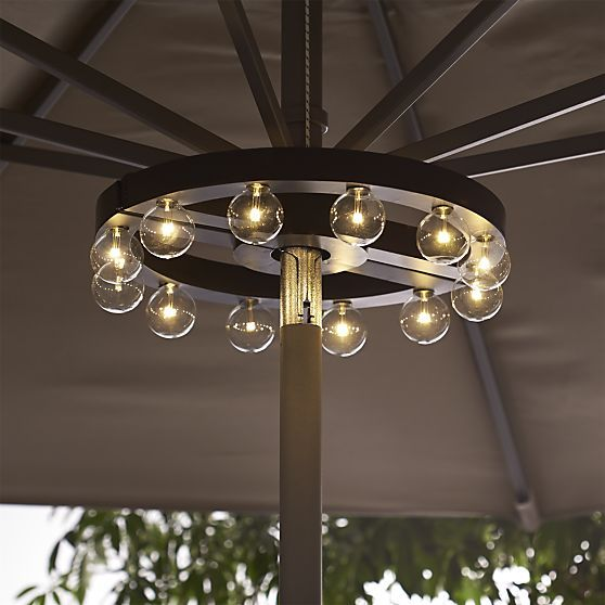 Umbrella Marquee Lights | Crate and Barrel - LED battery