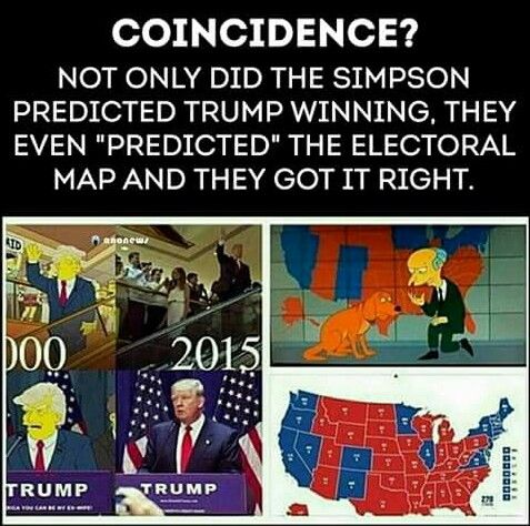Best Trump On Simpsons Ideas On Pinterest Simpsons Donald - Simpons us map vs real voters map