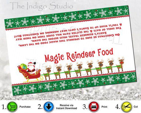 X2 BAGS MAGICAL REINDEER FOOD Christmas Eve Boxes Oats Sprinkles Xmas Eve Box