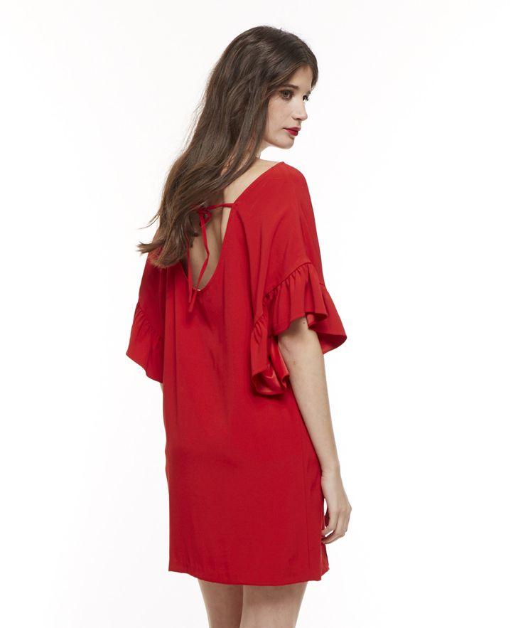 Red dress  Winter outfit  Belair Paris