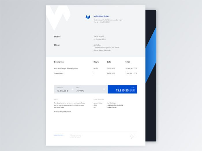 30 best Invoice   receipt images on Pinterest Invoice design - invoice designs