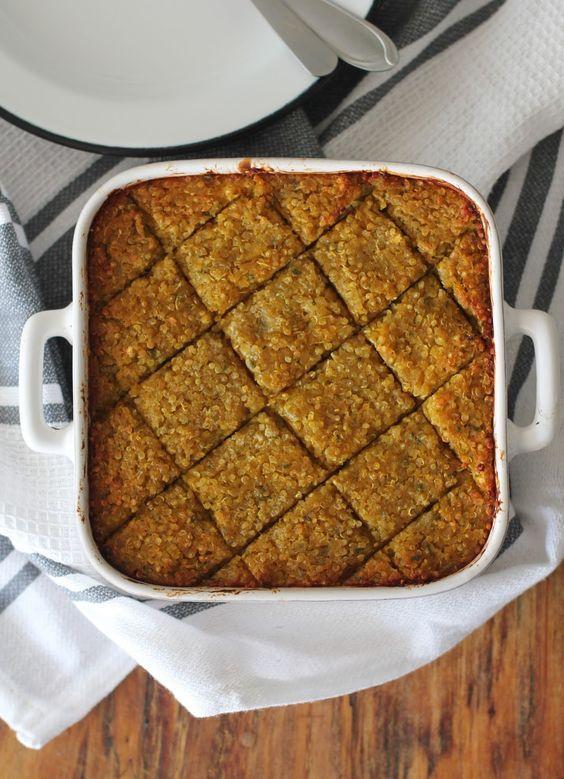Feito com Amor: Torta de abóbora com quinoa (recheada com coalhada seca)