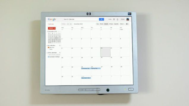 I wish they sold this idea!Mount a Raspberry Pi-Powered Google Calendar On Your Wall