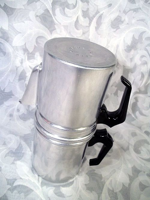 $24.99 ALUMINUM STOVETOP FLIP NEAPOLITAN DRIP STYLE 1 CUP COFFEE MAKER  MADE IN ITALY