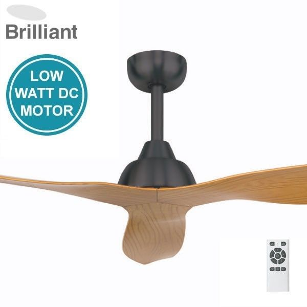 Cool Brilliant Bahama DC Ceiling Fan Charcoal Motor with Maple Blades Fansonline Australia