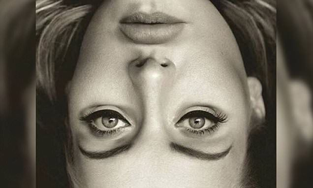 To the naked eye there is nothing unusual about the flipped image of Adele taken from cover of her latest album, 25. However, viewers are in for a surprise when the photo is turned right-side up.