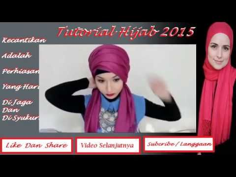 Tutorial Hijab 2015 ~ 2 Hijab Tutorial Turban Populer 2015   Tutorial Hi...