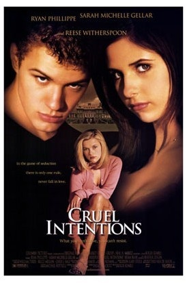 Movie posterFilm, Movie Posters, Sarah Michelle Gellar, Classic Movie, Intentions1999, Book, Intentions 1999, Favorite Movie, Cruel Intentions