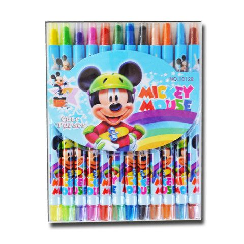 V208 - 15 cm Twistable Crayons - Mickey Mouse - School Depot NZ