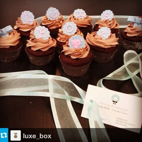 Fancy Frostings Cupcakes for Luxe Box. info@fancyfrostings.ca