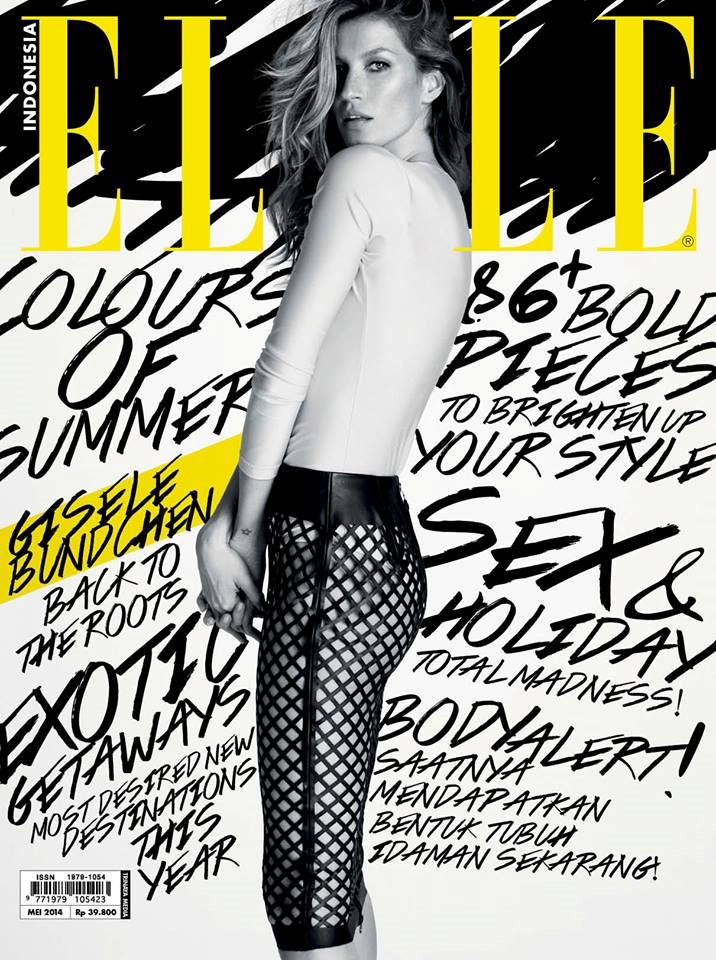 Elle Indonesia, Gisele Bündchen, pinned by Ton van der Veer