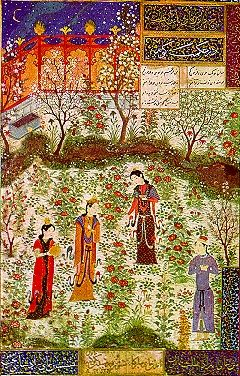 Garden in a Persian miniature
