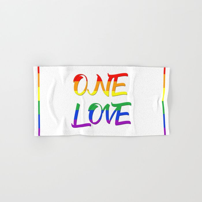 Buy a Set of 2 Hand & Bath Towels and Save! One Love Hand & Bath Towel by scardesign. #white