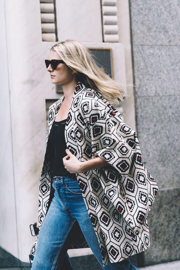 New_York_Fashion_Week-Spring_Summer-2016 - Street-Style-Jeans-Kimono-