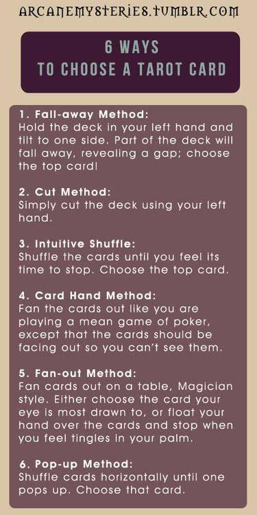 6 Ways To Choose A Tarot Card
