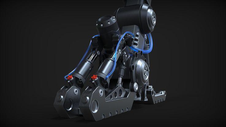 The Reaper - Hardsurface Landing Gear, Laurentiu Nedelca on ArtStation at https://www.artstation.com/artwork/1rmqK