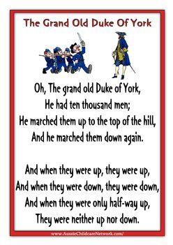 The Grand Old Duke of York   Nursery Rhymes   Nursery ...