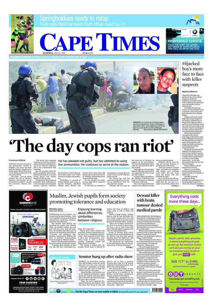 News making headlines: The day cops ran riot