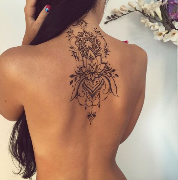 Mehndi Back Piece by Veronica Krasovska - 32 Mehndi Tattoos