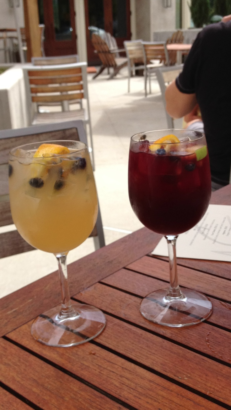 White and red sangria at Firestone Pizza in Downtown Woodstock !