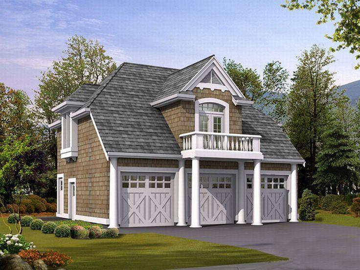 Best Car Garage Plans Images On Pinterest Garage Plans - Craftsman house plans with 3 car garage