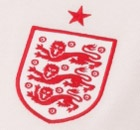 The crest of the new England shirt. Photograph: Umbro