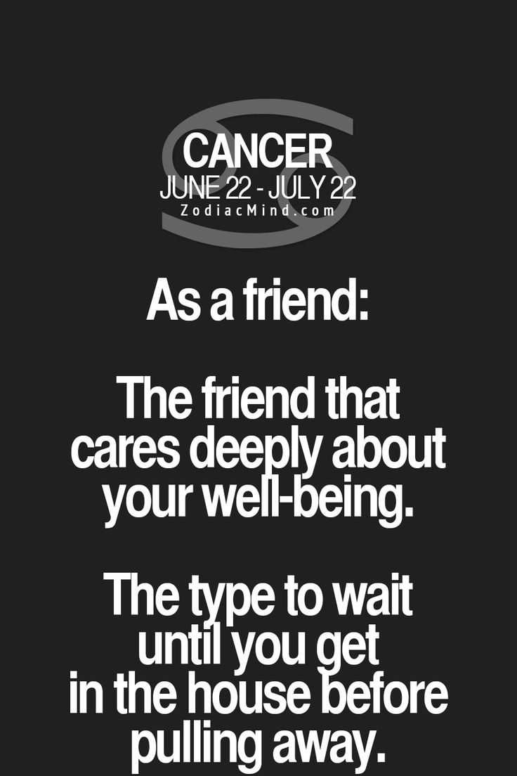 What kind of a friend Cancer Zodiac Sign ♋ is...