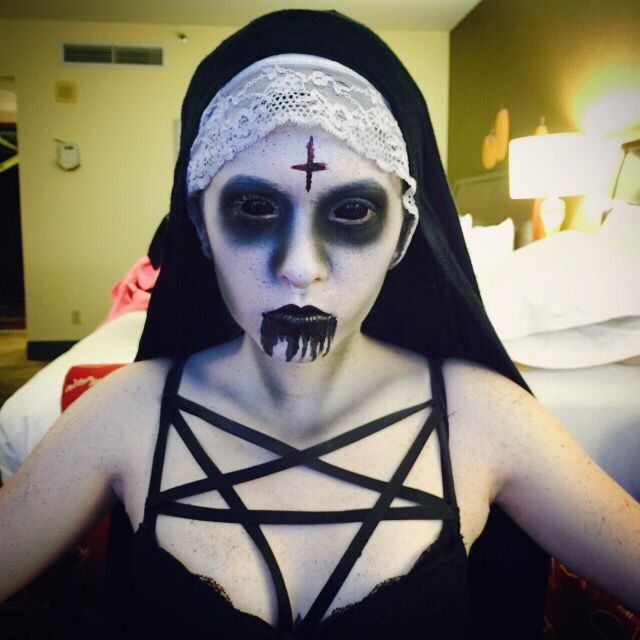Evil nun makeup by Shawn Morse                                                                                                                                                                                 More