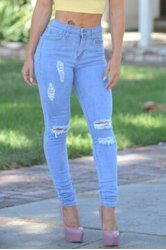 Denim And Jeans For Women   Cheap High Waisted Jeans And Denim Overalls Online At Wholesale Prices   Sammydress.com