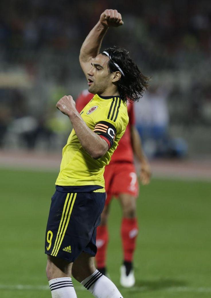 Radamel Falcao en partido amistoso 0-6 frente a Bahrein el 26/03/2015, que ganó Colombia y donde el tigre marcó doblete.  #ColSelection #Amistosos #FechaFIFA #Colombia