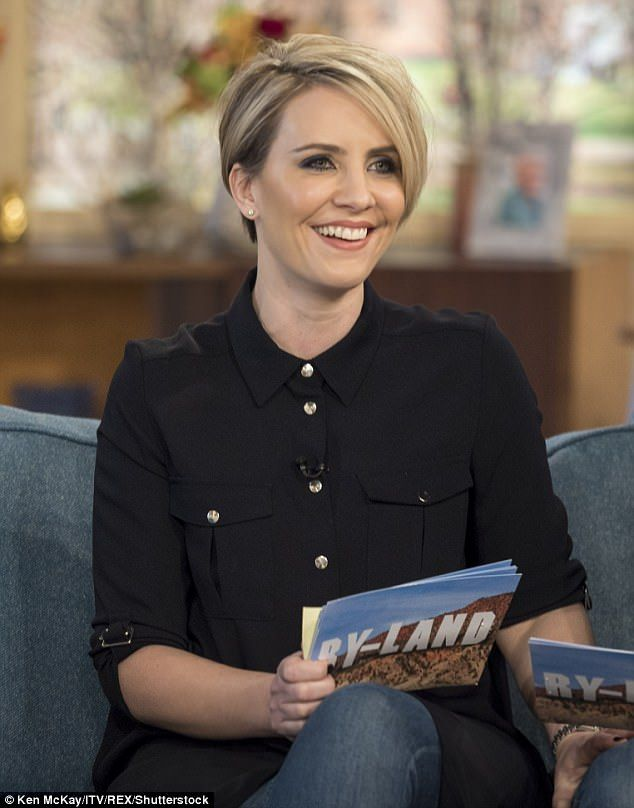 Step aside! Claire Richards, 39, blushed as Phillip Schofield gushed over her 'incredible' and 'amazing' appearance - but wasn't so kind to the rest of Steps on Monday morning