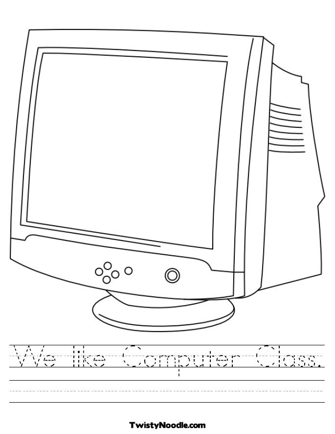 Free Computer Class Worksheets Computer Terms Worksheet