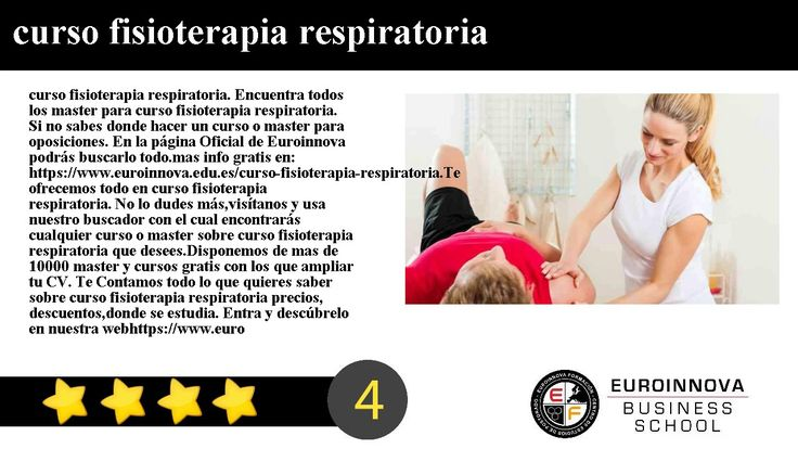 curso fisioterapia respiratoria - curso fisioterapia respiratoria. Encuentra todos los master para curso fisioterapia respiratoria. Si no sabes donde hacer un curso o master para oposiciones. En la página Oficial de Euroinnova podrás buscarlo todo.    mas info gratis en: https://www.euroinnova.edu.es/curso-fisioterapia-respiratoria.    Te ofrecemos todo en curso fisioterapia respiratoria. No lo dudes másvisítanos y usa nuestro buscador con el cual encontrarás cualquier curso o master sobre…