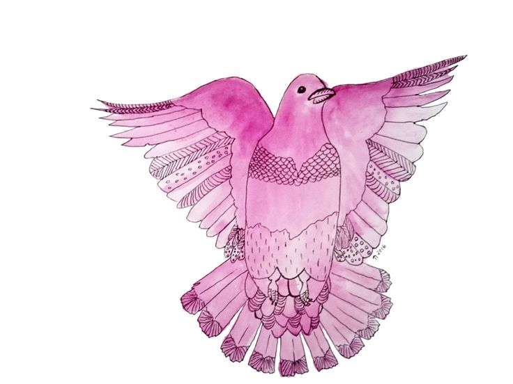 Plum Pigeon in Flight by Linda Ursin  The Pigeon's message is about home and family. It reminds you to cherish your family, your home, and what they bring to your life.  A Pigeon may show up to tell you to check that all is well with a family member, to visit or speak to someone you haven't seen or heard from in a long time, or to go back to your roots.
