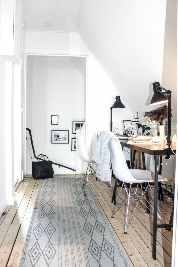 simple home office #home #homedecor