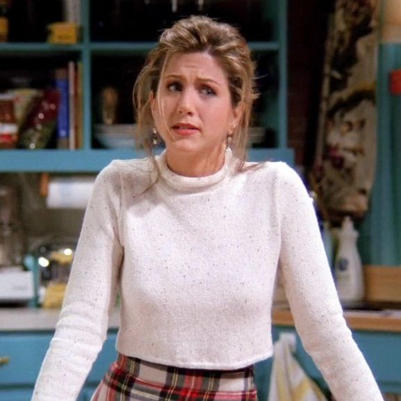 """rachel green (friends)  ""but today, it's like there's rock bottom, 50 feet of crap, then me."""""