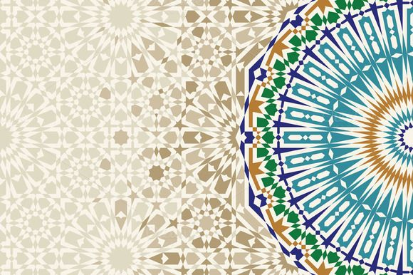 Template With Morocco Ornament by Azat1976 on @creativemarket