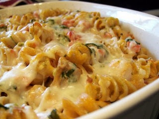 Spinach chicken pasta bake