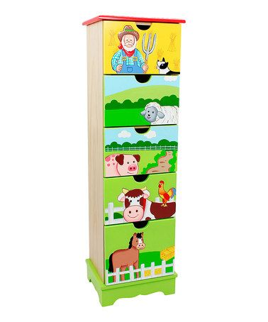 Loving this Happy Farm Five-Drawer Cabinet on #zulily! #zulilyfinds