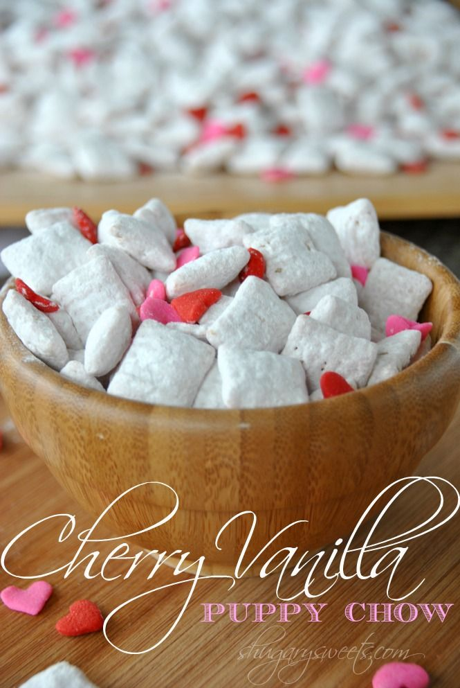 Cherry Vanilla Puppy Chow Yum